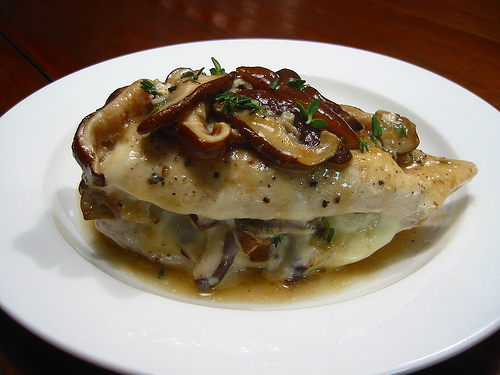 Mushroom Stuffed Chicken Breasts with Madeira Sauce | KeepRecipes ...