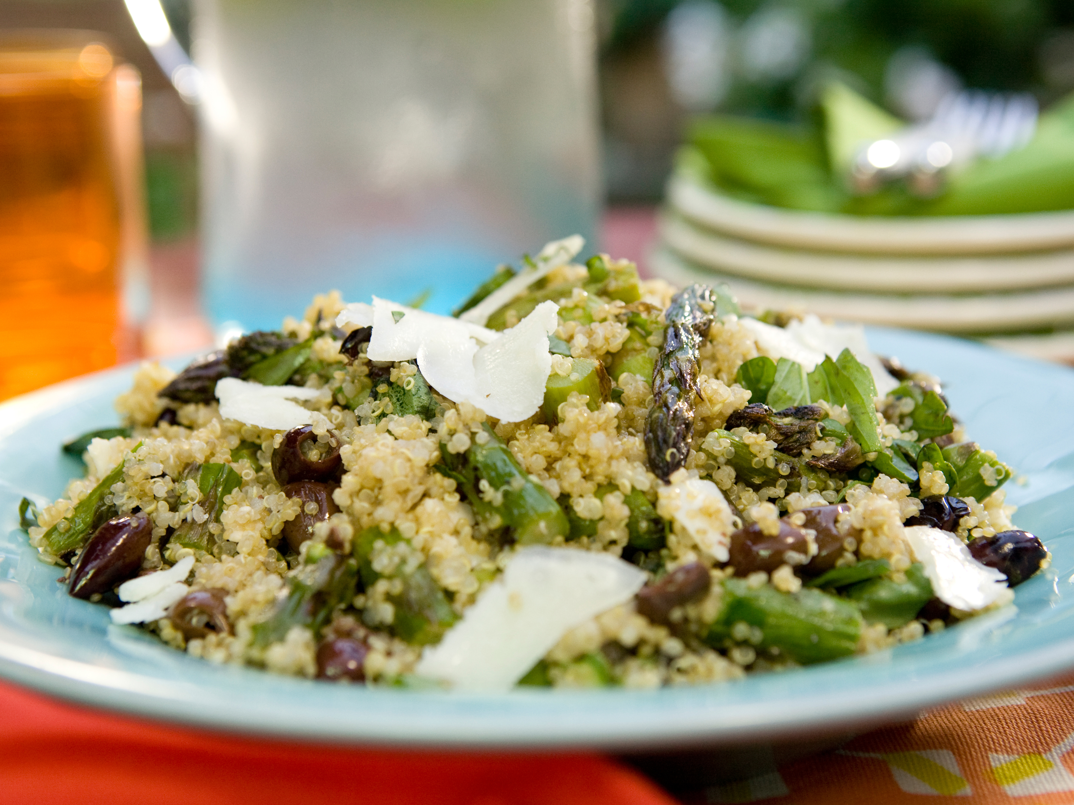 Quinoa Salad With Asparagus Goat Cheese And Black Olives Keeprecipes Your Universal Recipe Box