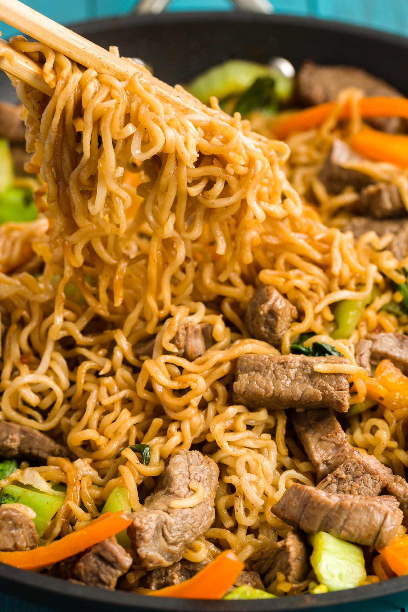 Best Ramen Noodle Skillet With Steak Keeprecipes Your
