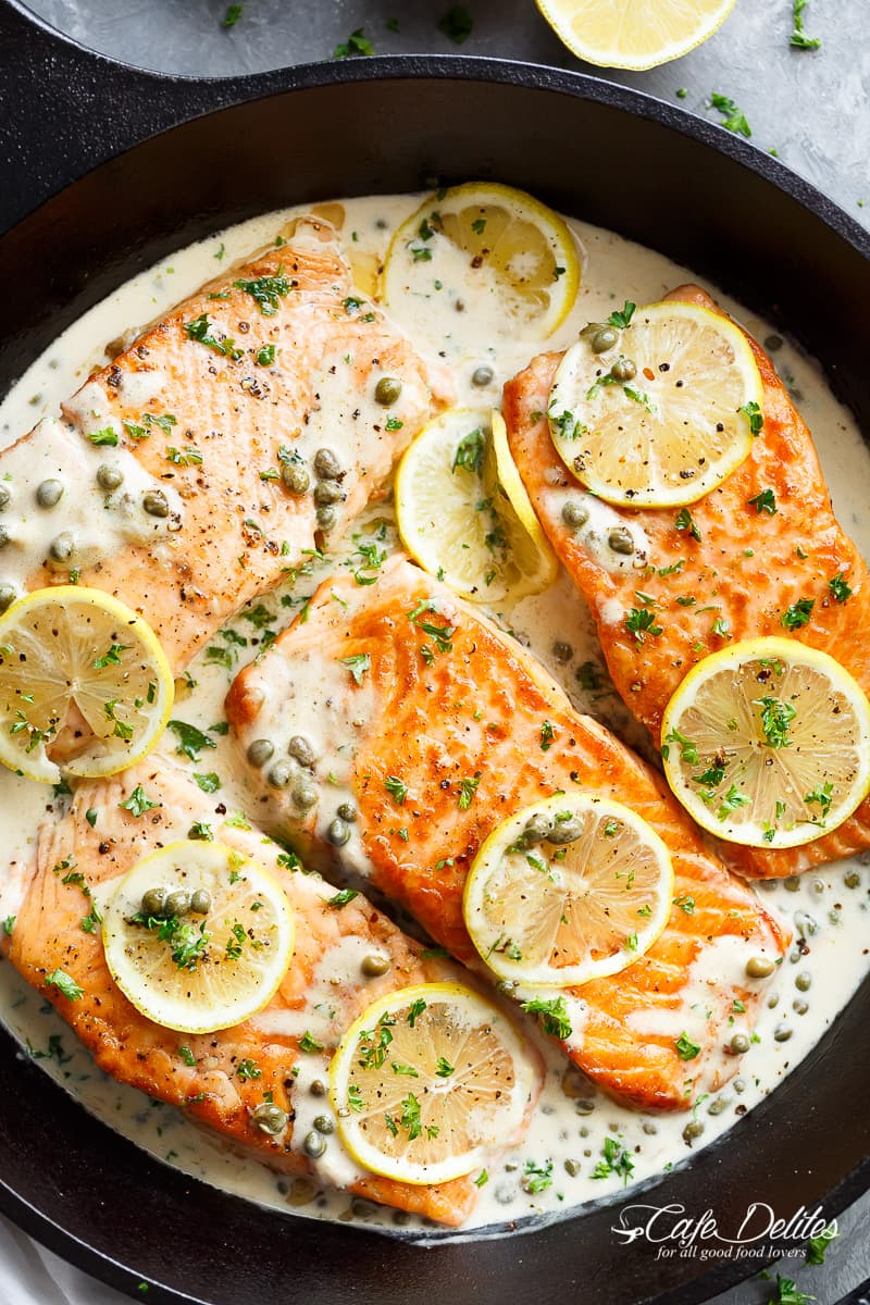 Creamy Lemon Garlic Salmon Piccata Keeprecipes Your