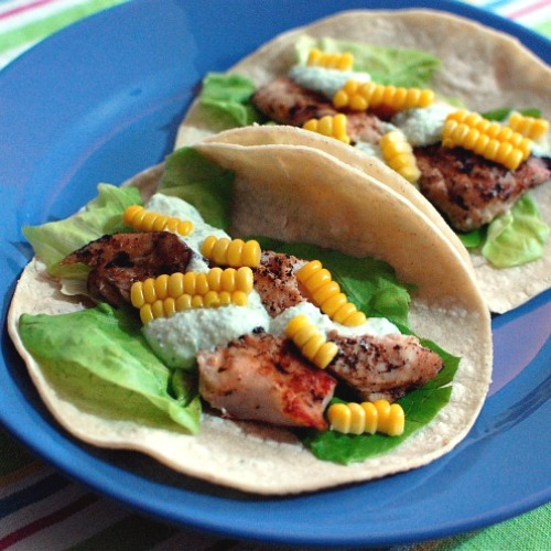 Lemon basil fish tacos with jalapeno raita keeprecipes for How to cook cod for fish tacos