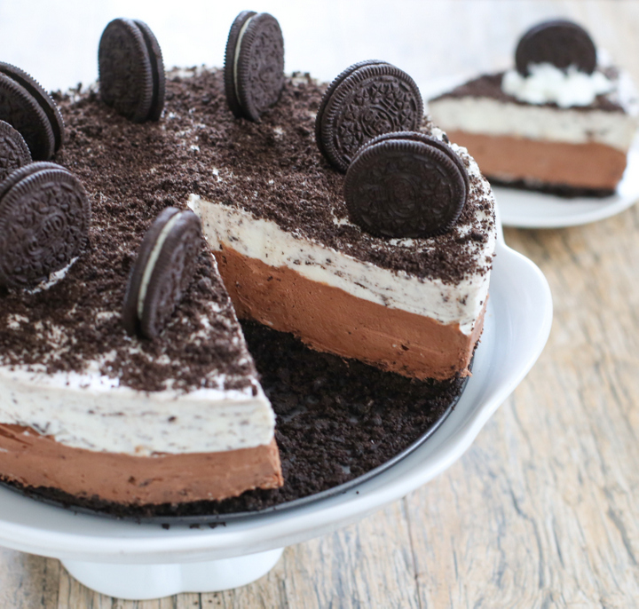 No Bake Double Chocolate Oreo Cheesecake