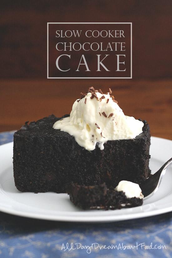 Recipe of a chocolate cake in cooker