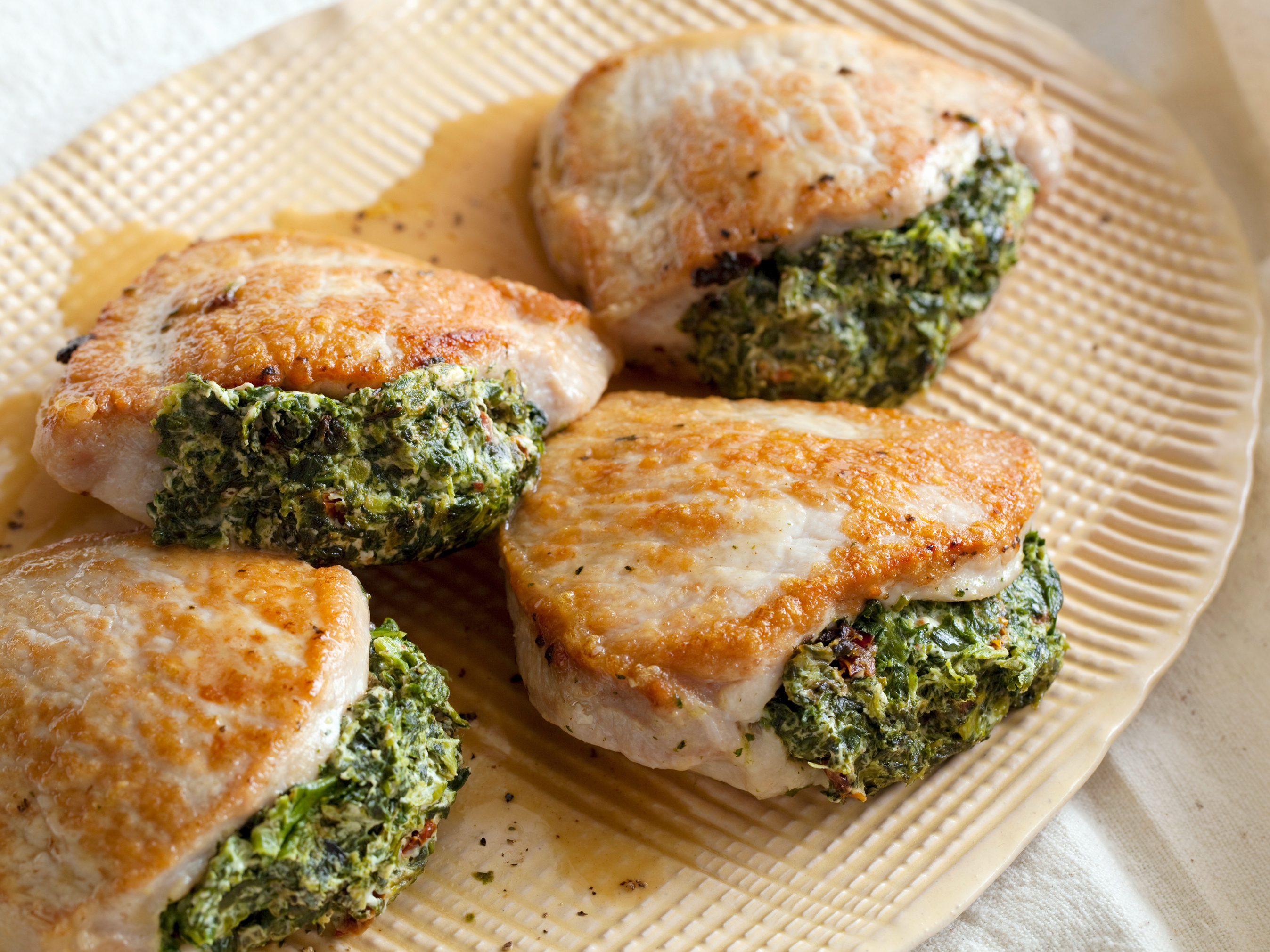 Pork Chops Stuffed With Sun Dried Tomatoes Amp Spinach