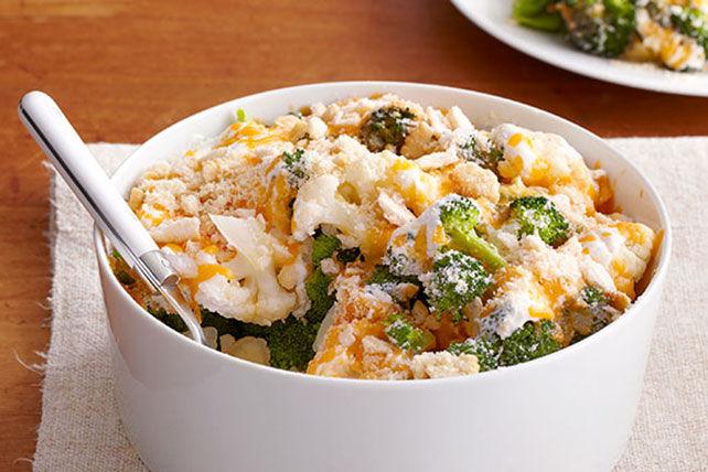 Easy Cauliflower & Broccoli au Gratin Recipe   KeepRecipes ...