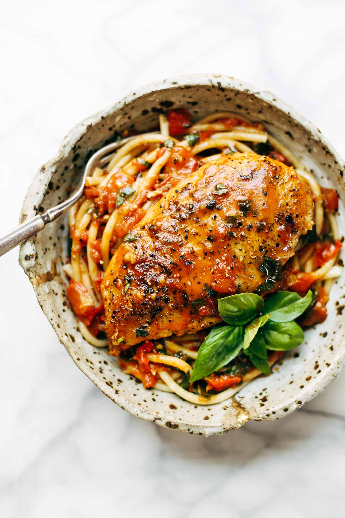 Garlic Basil Chicken With Tomato Butter Sauce Keeprecipes Your Universal Recipe Box