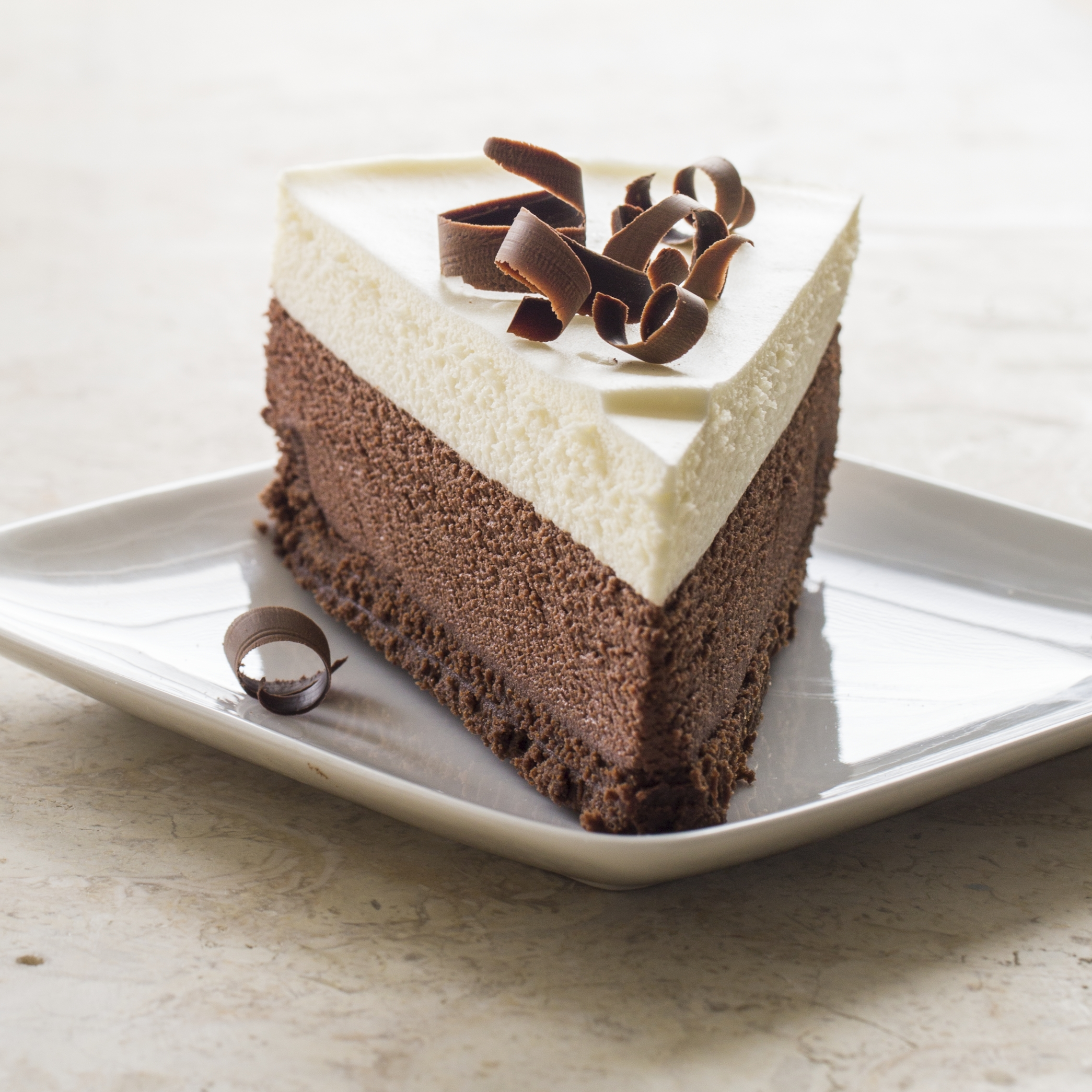 Triple Chocolate Layer Mousse Cake