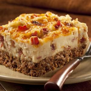 Cowboy Meatloaf And Potato Casserole Keeprecipes Your