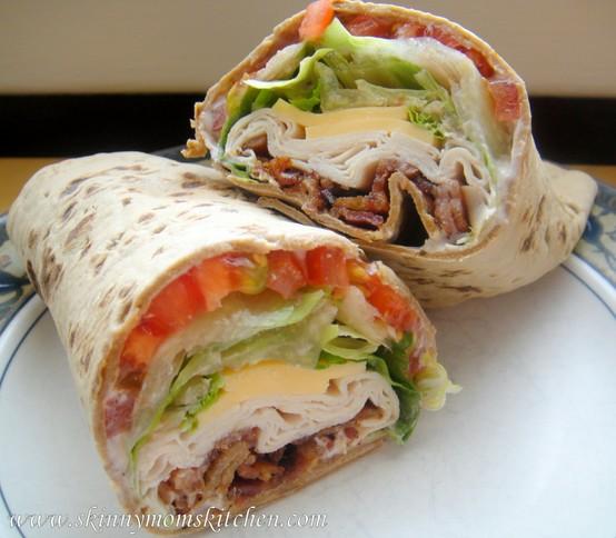 Sandwiches Skinny Turkey Ranch Club Wrap Keeprecipes