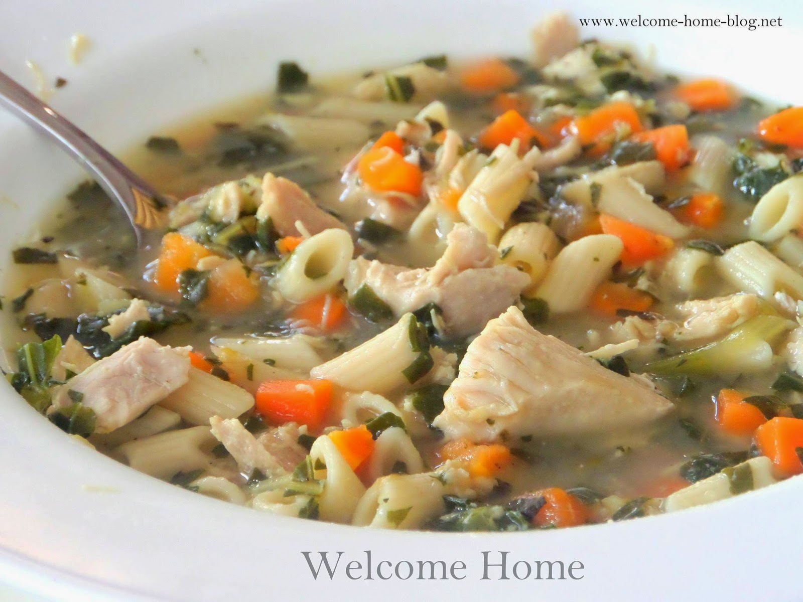 Soups Chicken Soup With Penne Pasta And Kale Keeprecipes Your