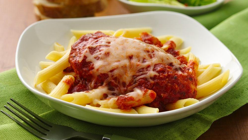 Slow cooker chicken parmesan with penne pasta keeprecipes your slow cooker chicken parmesan with penne pasta keeprecipes your universal recipe box forumfinder Image collections