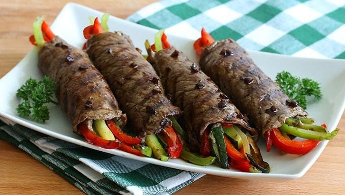 Balsamic Glazed Steak Rolls Recipe Keeprecipes Your Universal Recipe Box