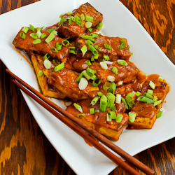 Spicy Vegan Peanut Butter Tofu with Sriracha | KeepRecipes: Your ...