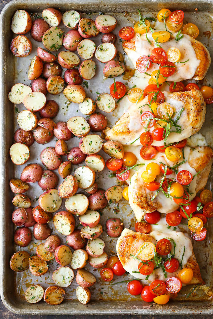 Sheet Pan Bruschetta Chicken Keeprecipes Your Universal