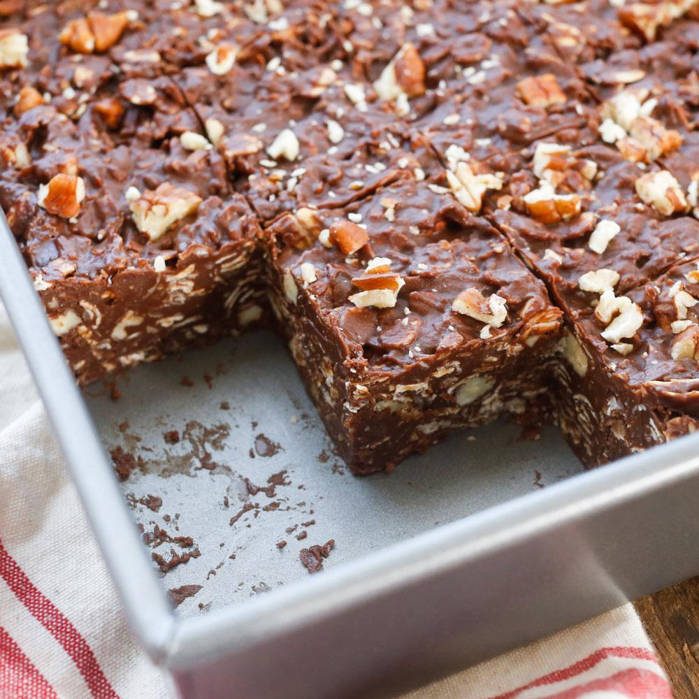 Coconut Pecan No Bake Chocolate Bars Keeprecipes Your