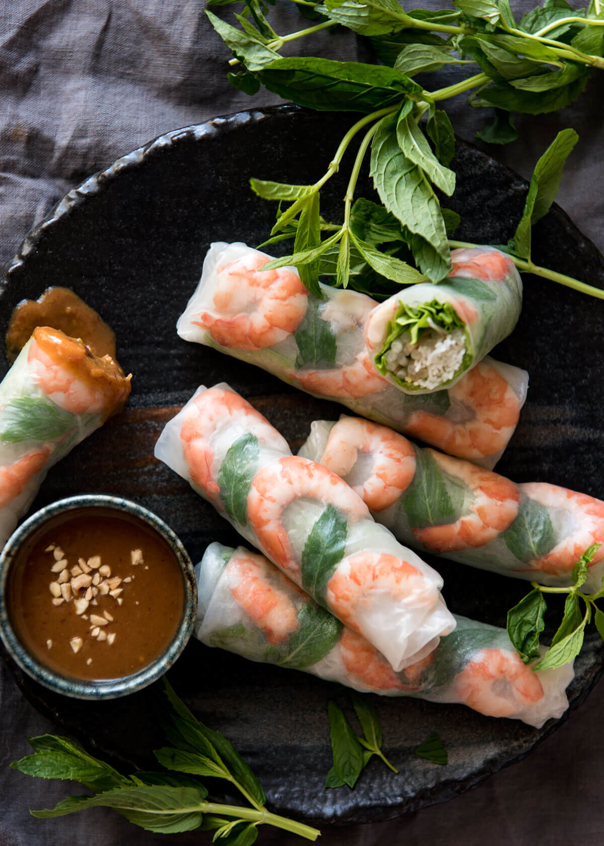 rice paper recipe Vietnamese-inspired sandwich rolls that combine elements of both a banh mi sandwich and a fresh summer roll.