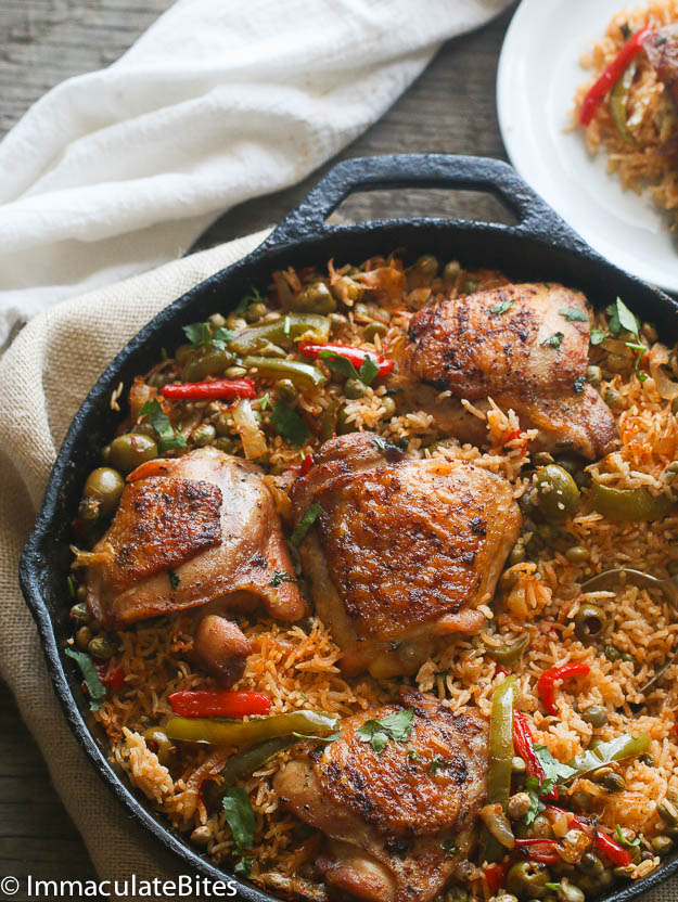 One pot puerto rican chicken and rice keeprecipes your universal one pot puerto rican chicken and rice keeprecipes your universal recipe box forumfinder Images