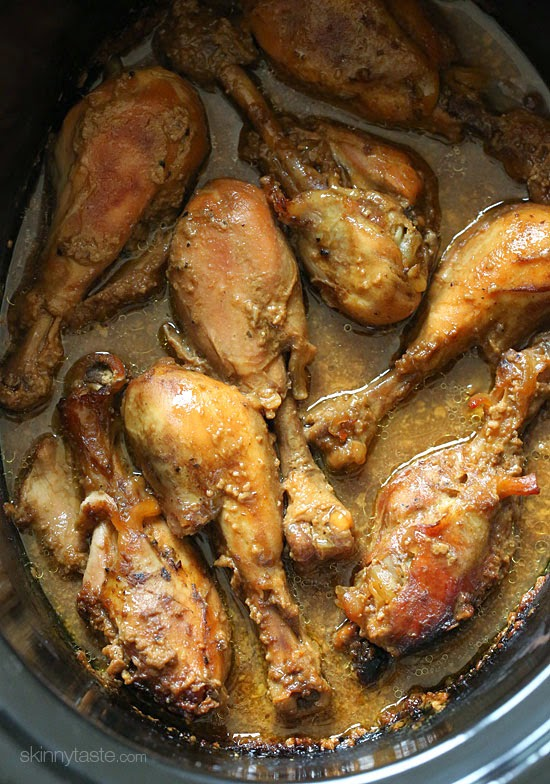 Crock Pot Maple Dijon Chicken Drumsticks Skinny Taste Keeprecipes Your Universal Recipe Box