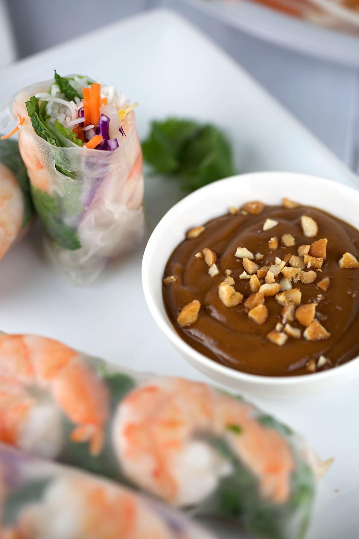 Shrimp Spring Rolls w Peanut Sauce | KeepRecipes: Your ...