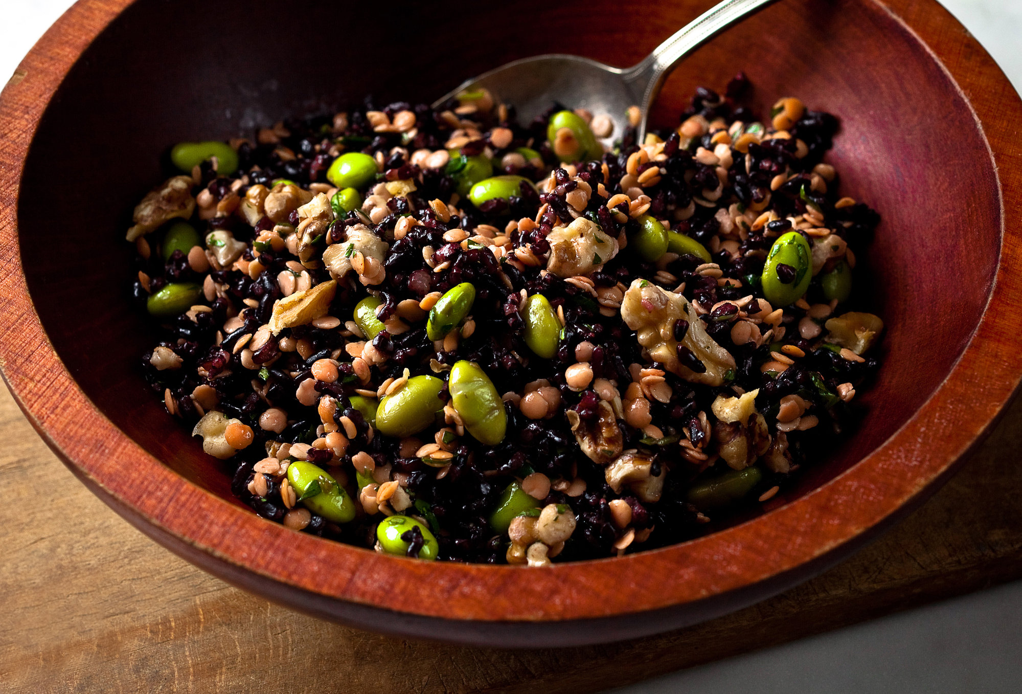Black Rice And Red Lentil Salad Recipe Keeprecipes Your