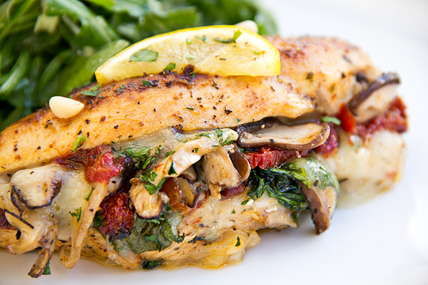 Provolone Spinach And Shitake Mushroom Stuffed Chicken Breast Keeprecipes Your Universal