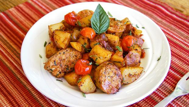 Hearty Italian Sausage Potato Skillet KeepRecipesYour