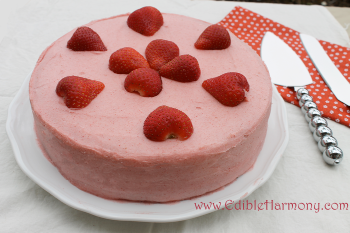 Strawberry Paleo Birthday Cake
