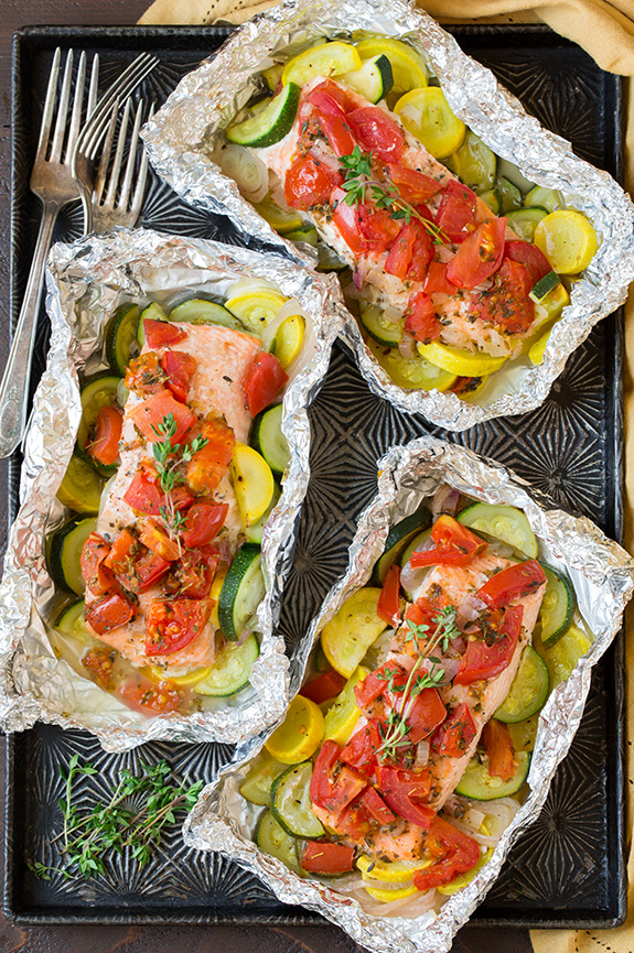 Salmon And Summer Veggies In Foil Keeprecipes Your Universal