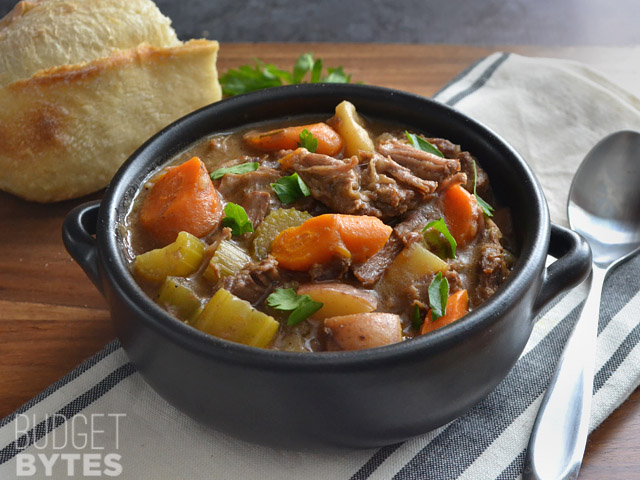 Slow Cooker Rosemary Garlic Beef Stew Keeprecipes Your