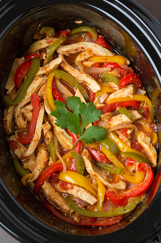 Slow Cooker Chicken Fajitas Keeprecipes Your Universal Recipe Box