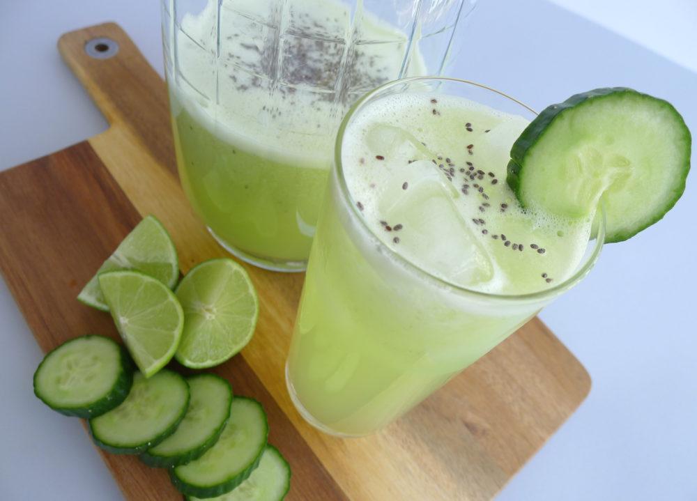 cucumber  lime  u0026 chia seed agua fresca