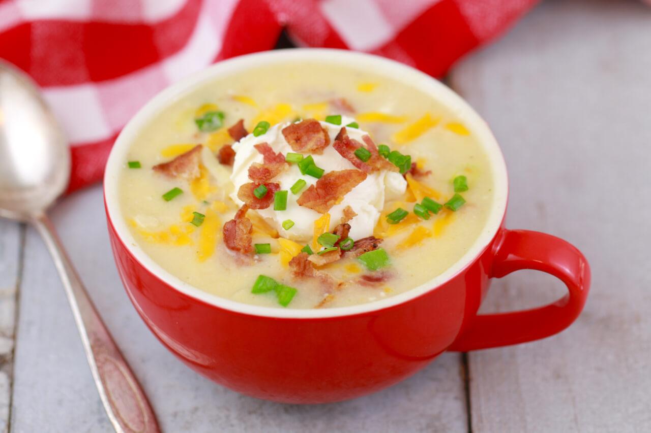 Microwave Potato Soup In A Mug Microwave Mug Meals