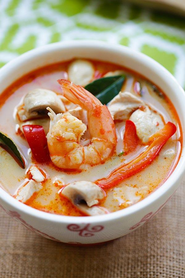Thai Coconut Chicken Amp Shrimp Soup Keeprecipes Your Universal Recipe Box