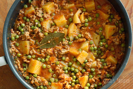 Ground Turkey with Potatoes and Spring Peas | KeepRecipes: Your ...