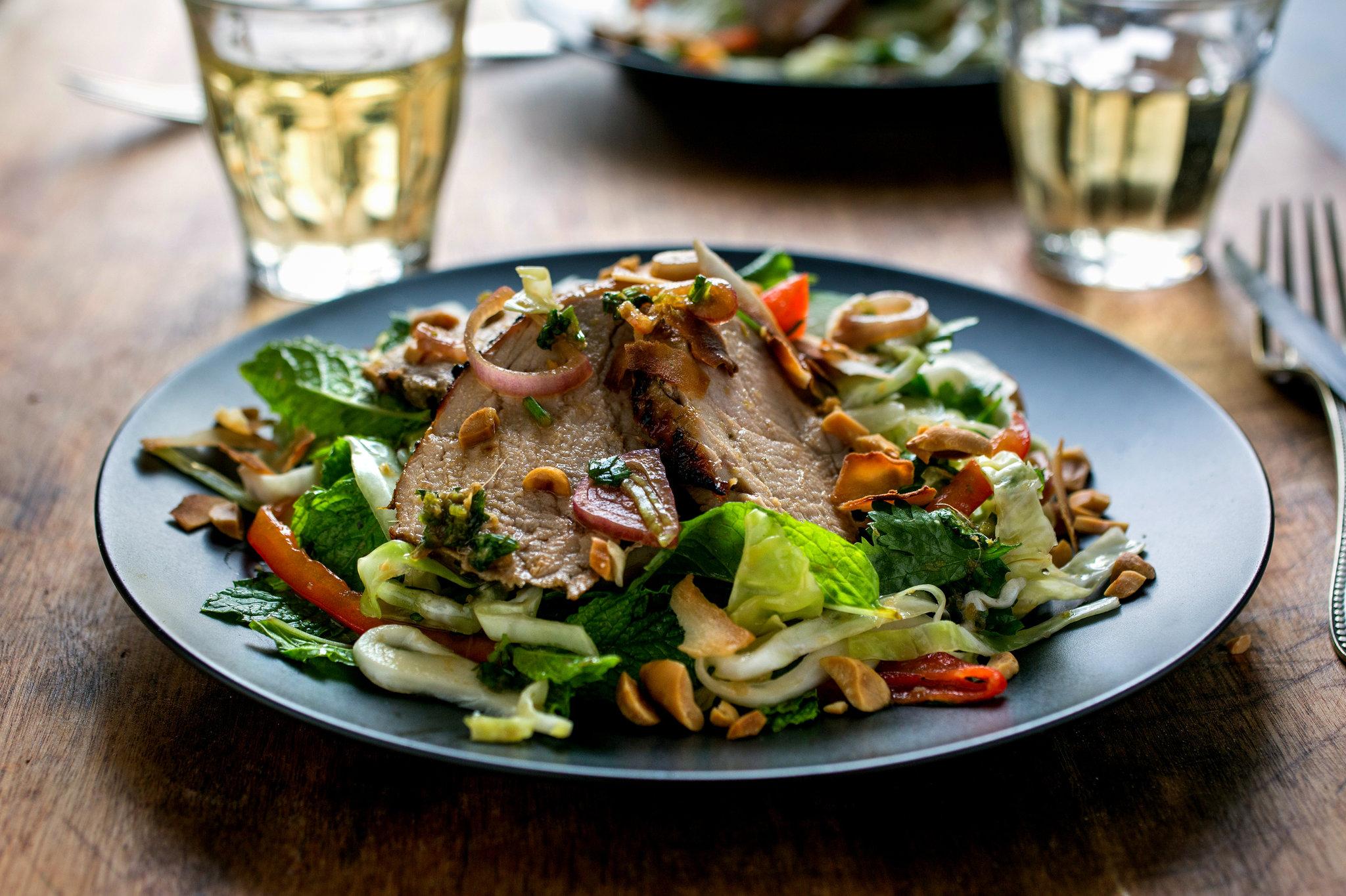 Spicy Thai Pork Tenderloin Salad Recipe Keeprecipes