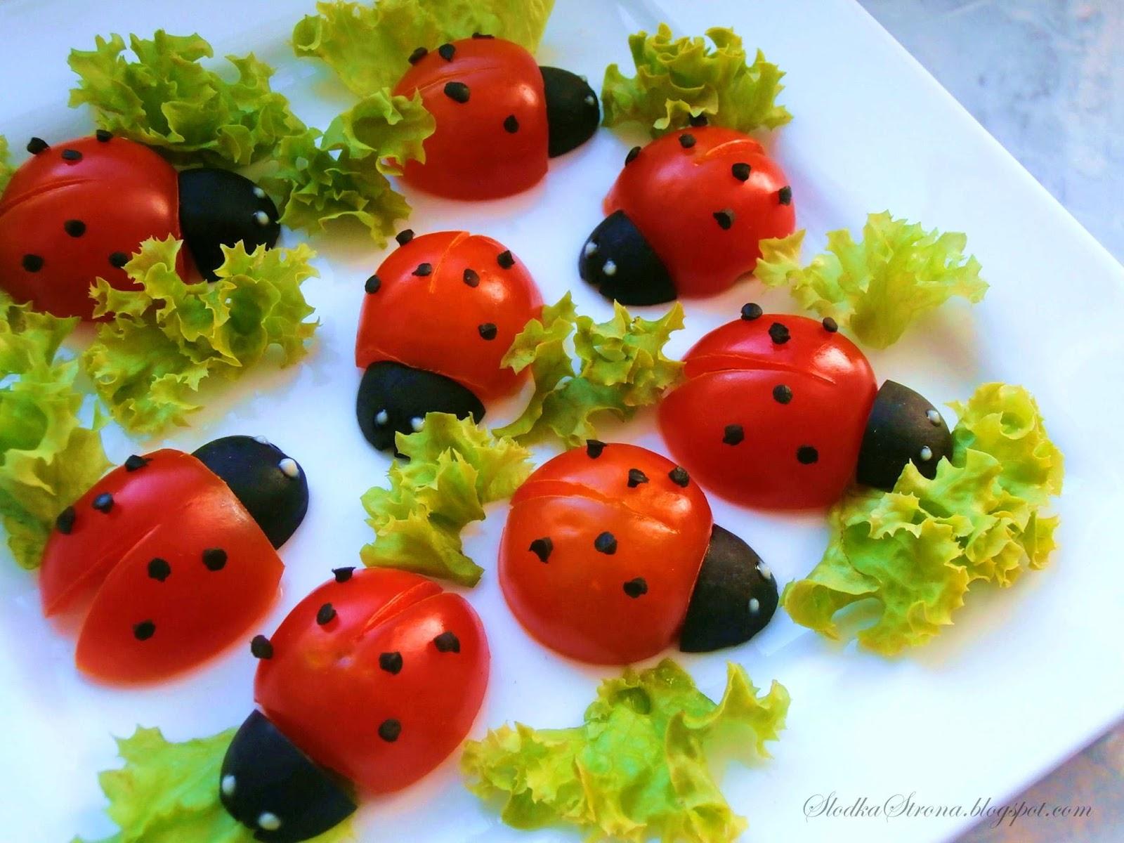 Biedronki z Pomidorków Koktajlowych  KeepRecipes Your   -> Kuchnia Dla Dzieci Z Ekspresem