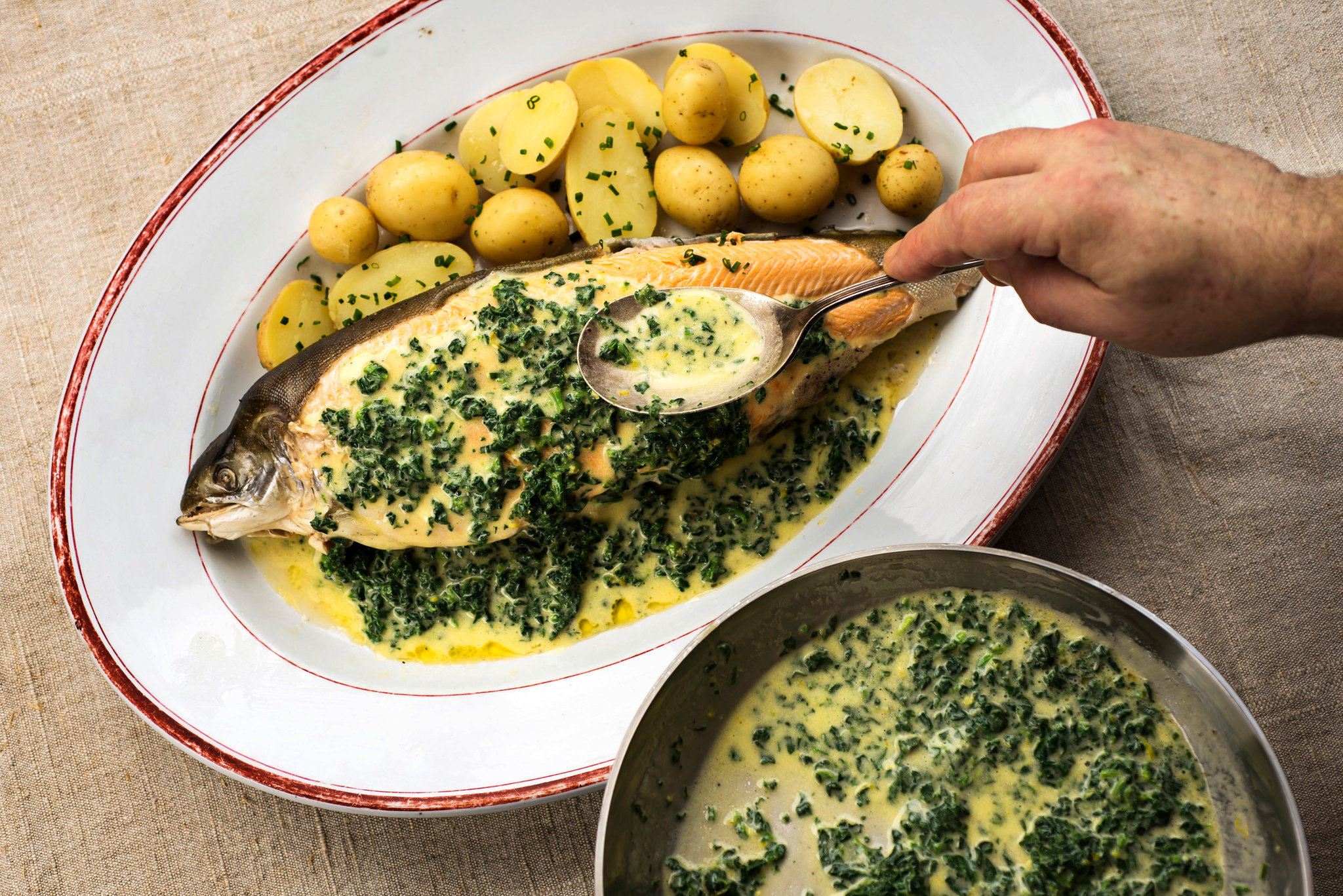 Arctic Char With Spinach Butter Recipe Keeprecipes Your Universal Recipe Box