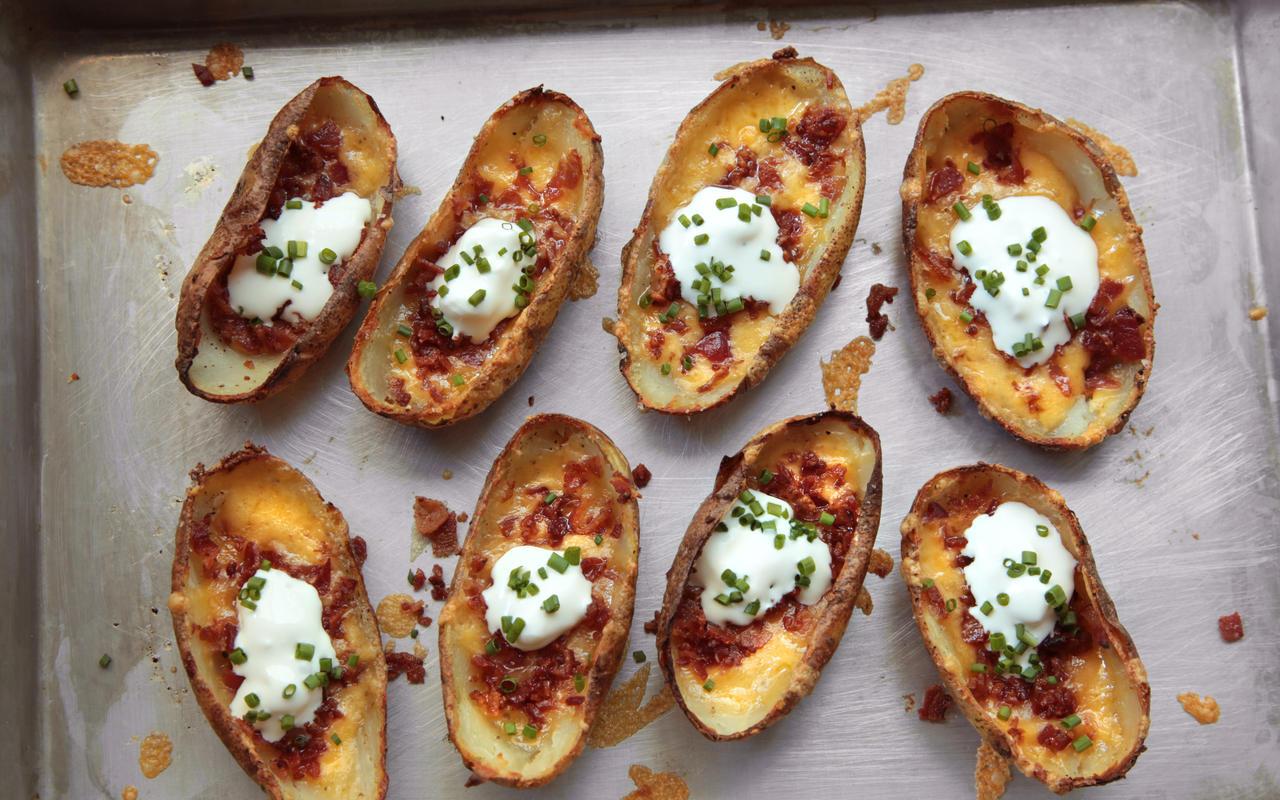 Easy Potato Skins Recipe Keeprecipes Your Universal