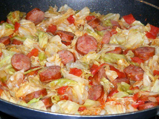 Fried Cabbage With Sausage Keeprecipes Your Universal