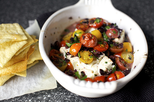 Mediterranean Baked Feta With Tomatoes Keeprecipes Your Universal Recipe Box