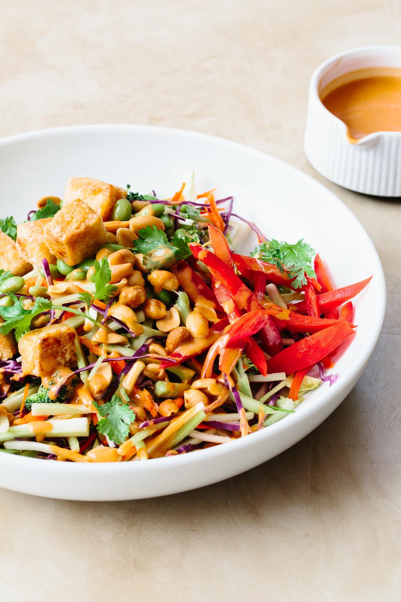 Tofu and Broccoli Salad with Peanut Butter Dressing   KeepRecipes ...