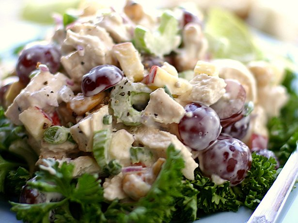 Chicken Salad With Grapes Cashews Apples And Fresh Dill