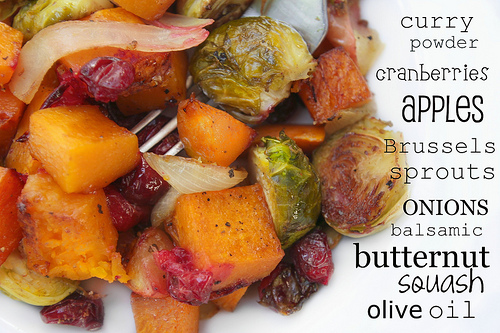 Roasted Brussels Sprouts, Butternut Squash & Cranberries ...