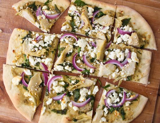 spinach artichoke flatbread pizza keeprecipes your universal