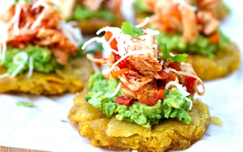 Patacones With Shredded Chicken Amp Avocado Keeprecipes
