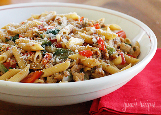 Pasta with Italian Chicken Sausage, Peppers and Escarole | KeepRecipes ...