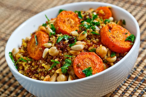 Moroccan Roasted Carrot and Chickpea Quinoa Salad | KeepRecipes: Your ...