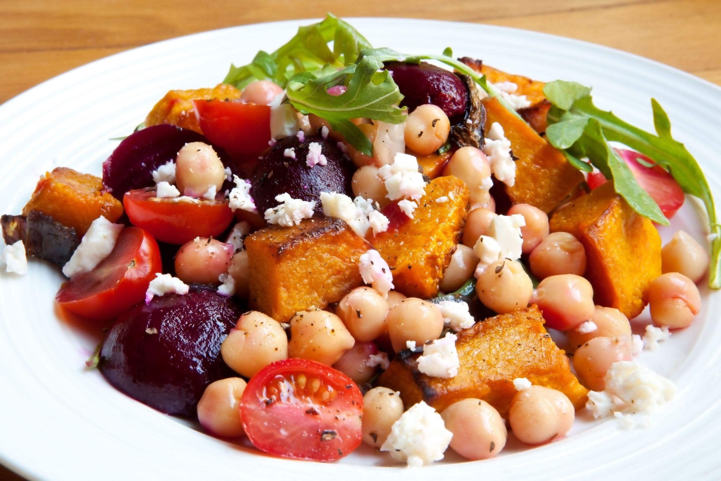 Roasted Squash And Beet Feta Chickpea Salad   KeepRecipes ...