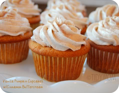 Vanilla Pumpkin Cupcakes w/ Cinnamon Buttercream | KeepRecipes: Your ...