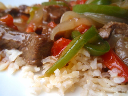 Easy Beef Pepper Steak With Rice Keeprecipes Your Universal Recipe Box